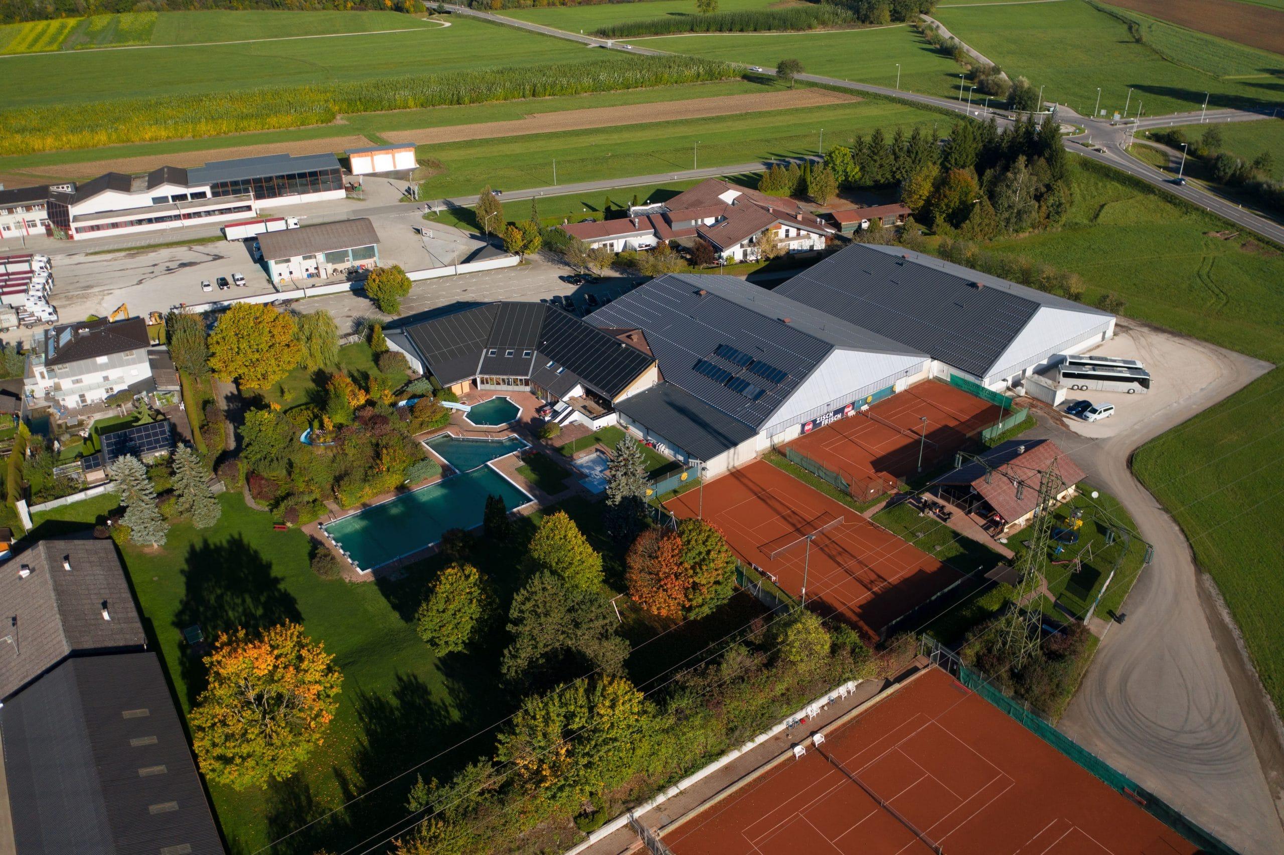 Luftaufnahme Freizeitzentrum Attergau